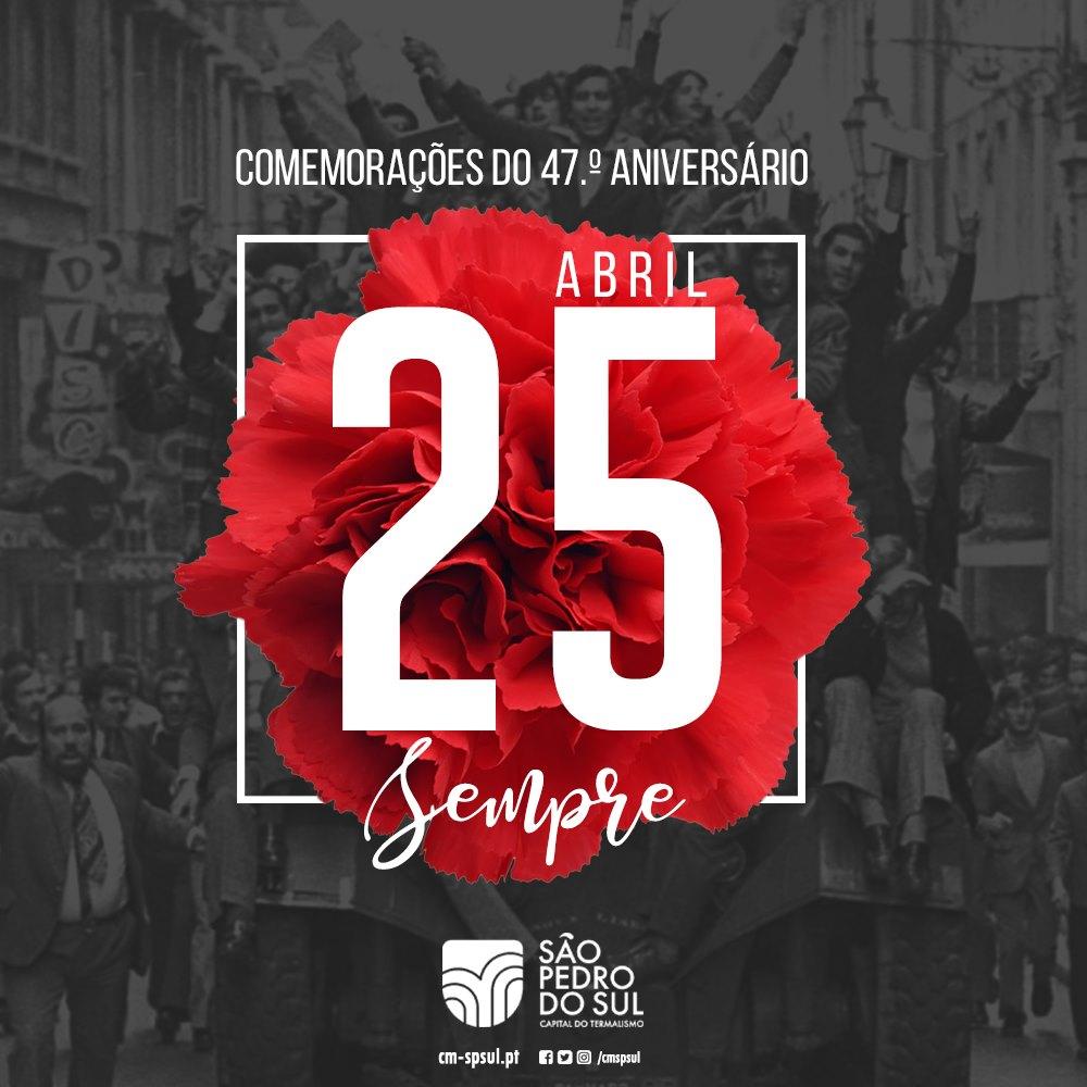 Dia da Liberdade assinalado em S. Pedro do Sul